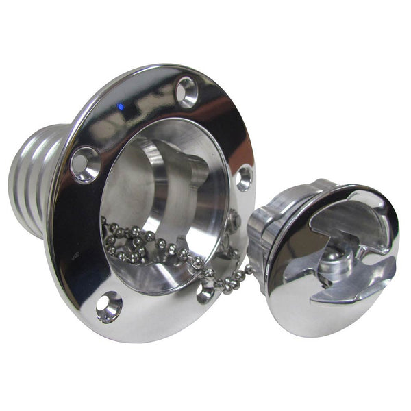 Polished Aluminum Aircraft Style Fuel Filler Neck and Cap