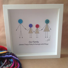 Load image into Gallery viewer, Button Heads Family Boxed Frame