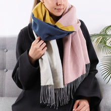 Load image into Gallery viewer, Multicoloured Block Blanket Scarf - The Munro