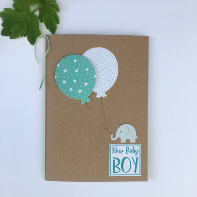 Handmade New Baby Greetings Card
