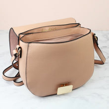 Load image into Gallery viewer, Blush Pink Suede Crossbody Handbag