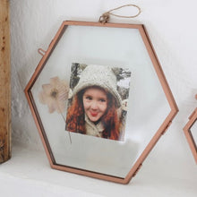 Load image into Gallery viewer, Hexagonal Copper Photo Frame