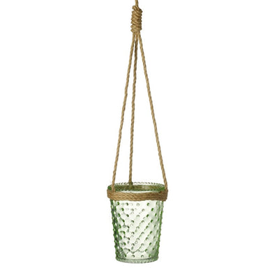 Natural Hanging Glass Jar