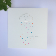 Load image into Gallery viewer, Handmade Happy Cloud Rainbow Greetings Card