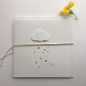 Handmade Happy Cloud Rainbow Greetings Card