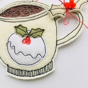 Hanging Felted Small Hot Chocolate