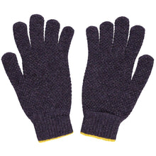 Load image into Gallery viewer, Men's Textured Yellow & Aubergine Gloves - The Munro