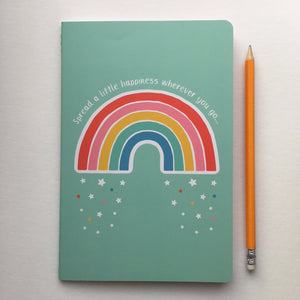 Rainbow Spread a little Happiness Notebook