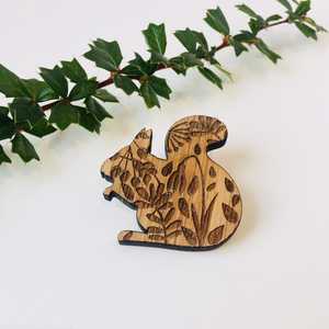 Woodland Pin Brooch Animals