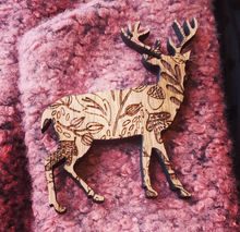 Load image into Gallery viewer, Woodland Pin Brooch Animals