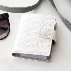 Grey Feather Card Holder