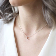 Load image into Gallery viewer, Silver Crescent Moon Necklace
