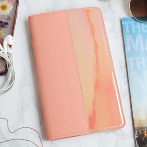 Iridescent Wallet in Coral Pink