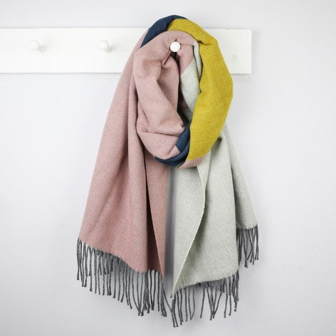 Multicoloured Block Blanket Scarf - The Munro