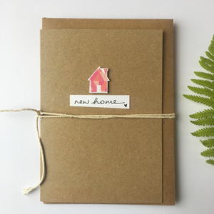 Handmade New Home Greetings Card
