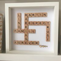 Load image into Gallery viewer, Wooden Scrabble Boxed Frame