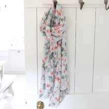 Load image into Gallery viewer, Watercolour Floral Scarf - The Munro