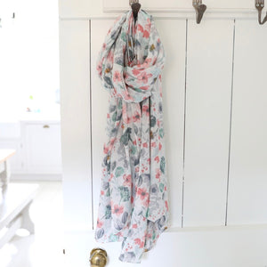 Watercolour Floral Scarf - The Munro