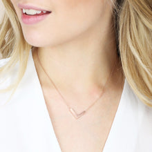 Load image into Gallery viewer, Small Silver Chevron Necklace - The Munro