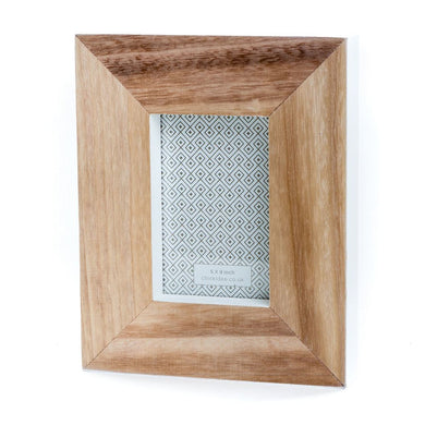 Chunky White & Natural Wooden Photo Frame - The Munro