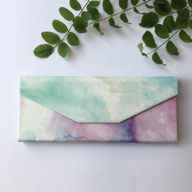 Pastel Watercolour Foldable Glasses Case - The Munro