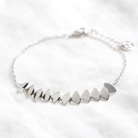 Silver Overlapping Triangles Bracelet