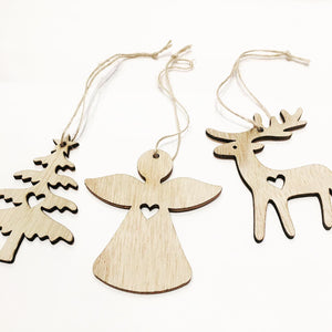 Wooden Christmas Hanging Decors