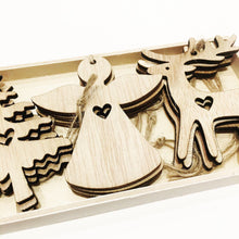 Load image into Gallery viewer, Wooden Christmas Hanging Decors