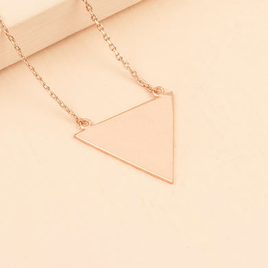 Rose Gold Triangle Necklace - The Munro