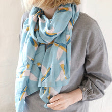 Load image into Gallery viewer, Blue Hummingbird Scarf - The Munro