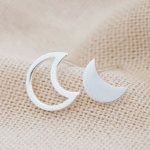 Load image into Gallery viewer, Mismatched Moon Stud Earrings
