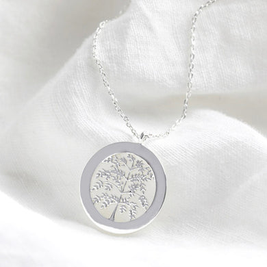 Silver Family Tree Disk Neckalce - The Munro