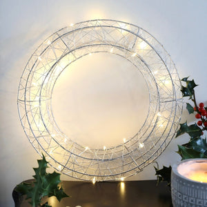 Wire LED Wreath