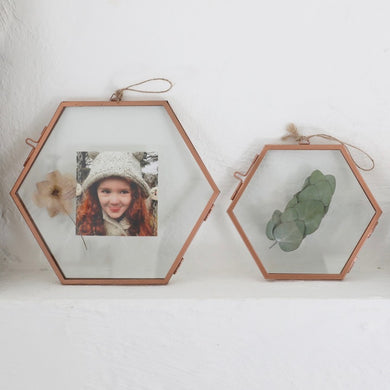 Hexagonal Copper Photo Frame