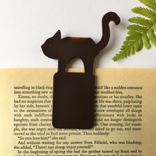 Load image into Gallery viewer, Recycled Brown Leather Magnetic Bookmark - The Munro