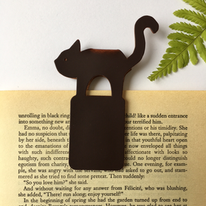 Recycled Brown Leather Magnetic Bookmark - The Munro