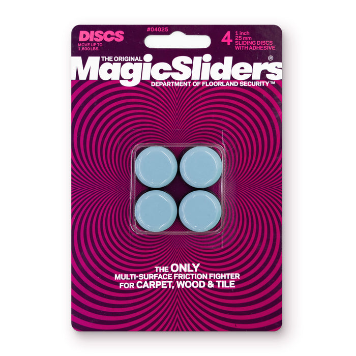 1 in. (25mm) Round, Self-Adhesive, 4-pack