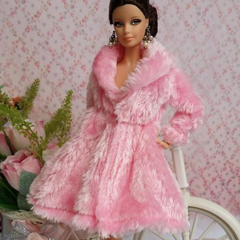 Doll Dress Party / Evening For Barbiedoll Lace Organza Top For Girl's Doll Toy
