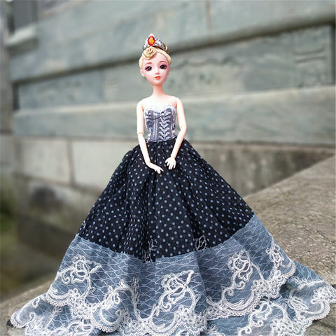 Doll Dress 3 pcs For Barbiedoll Lace Polyester Dress For Girl's Doll Toy