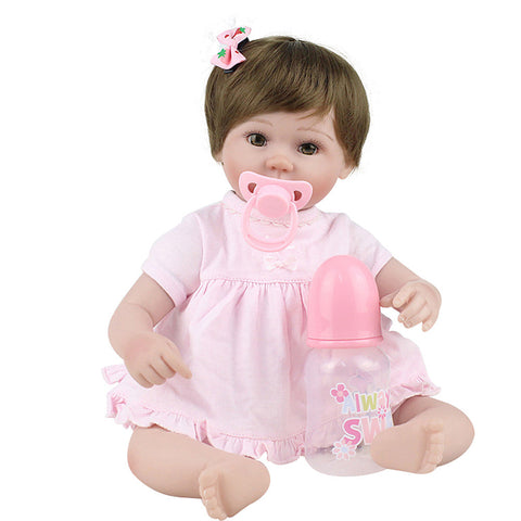 NPKCOLLECTION NPK DOLL Reborn Doll Baby 18 inch Silicone Vinyl - lifelike Cute Hand Made Child Safe Non Toxic Lovely Kid's Girls' Toy Gift / Parent-Child Interaction / CE Certified / Floppy Head