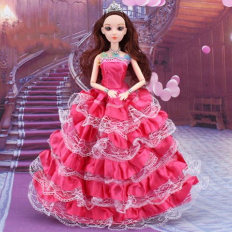 Doll accessories Doll Clothes Pretend Play Costume Skirt Wedding Dress Cute Child Safe Non Toxic Plastic Girls' Toy Gift / Lovely
