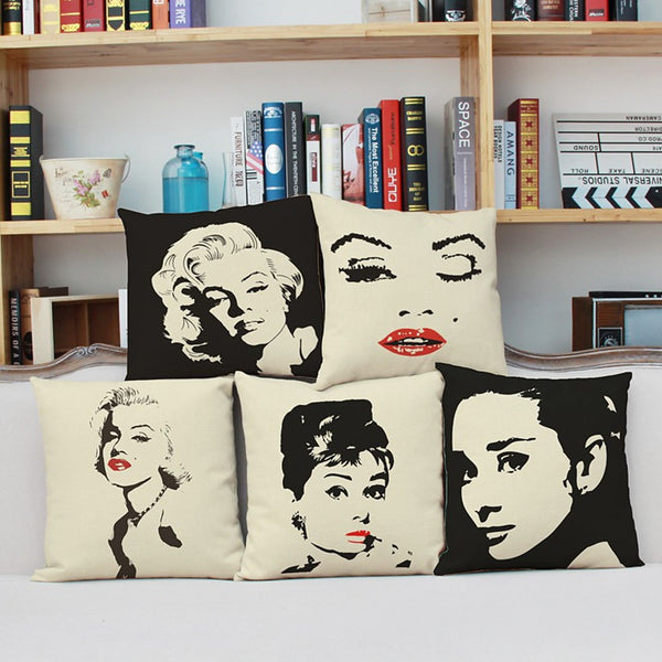 1 pcs Cotton / Linen Pillow Cover, 3D Print Contemporary Fashion Modern Throw Pillow