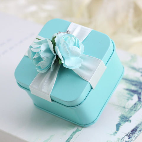 Creative Cubic Material Favor Holder with Ribbons Pattern Flower Favor Boxes Favor Tins and Pails Others Wedding Accessories - 12