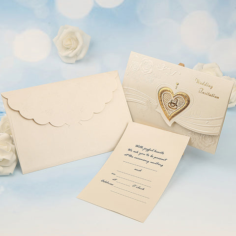 Tri-Fold Wedding Invitations 50 - Others / Invitation Cards Classic Material / Pearl Paper Flower