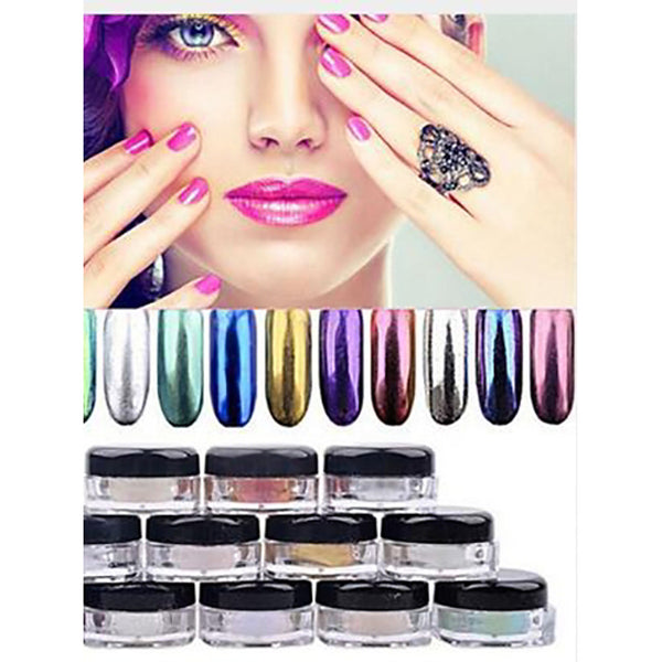 1pc Glitter Glitter Powder Nail Art Forms For Matte / Shimmer / Glitter Shine Solid Colored nail art Manicure Pedicure Casual / Daily Party Evening / Business / Ceremony / Wedding / Daily