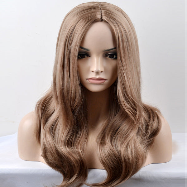 Synthetic Wig Loose Wave Style Capless Wig Brown Brown Synthetic Hair Women's Middle Part Brown Wig Long / Very Long Natural Wigs