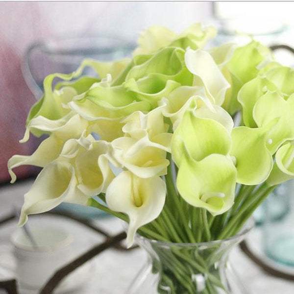 Artificial Flowers 10 Branch Modern Style Calla Lily Tabletop Flower