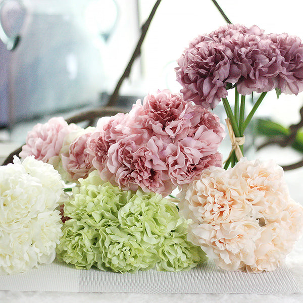 Artificial Flowers 1 Branch European Style Peonies Tabletop Flower