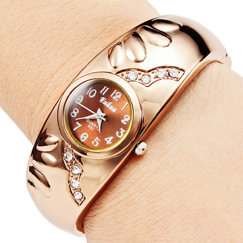 Women's Watch Bracelet Style With Diamond Decoration Strap Watch Cool Watches Unique Watches Fashion Watch