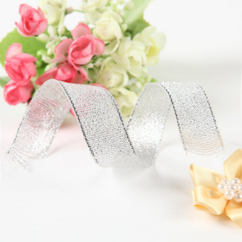 Solid Color Metalic Wedding Ribbons Piece/Set Metallica Ribbon Decorate favor holder Decorate gift box